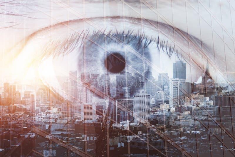 Futuro y concepto de la visión imagenes de archivo