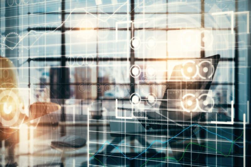 Futuro y concepto del analytics ilustración del vector