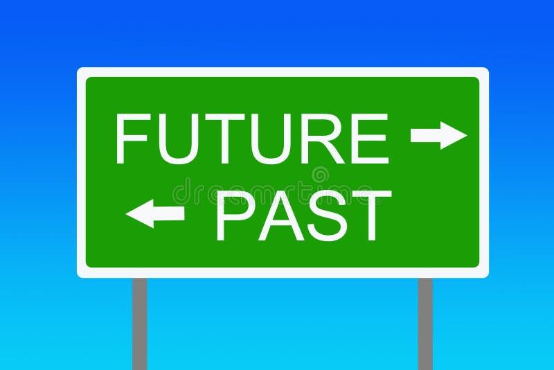Futuro y pasado ilustración del vector