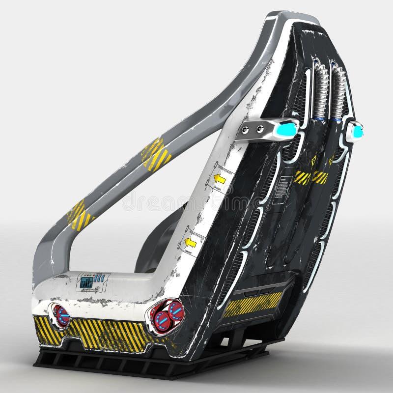 Futurontwerp van een ruimtevaartstoel voor speciale doeleinden royalty-vrije illustratie