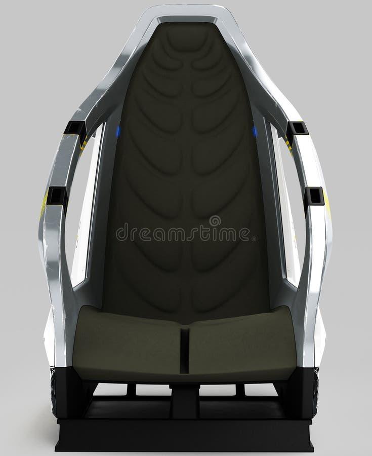 Futurontwerp van een ruimtevaartstoel voor speciale doeleinden stock illustratie