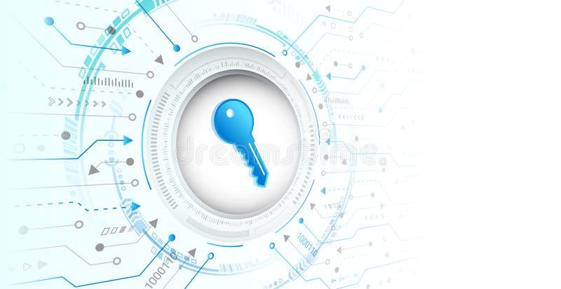 Futuros servicios web de cibertecnología para empresas y proyectos de internet Concepto de cifrado de datos informáticos libre illustration