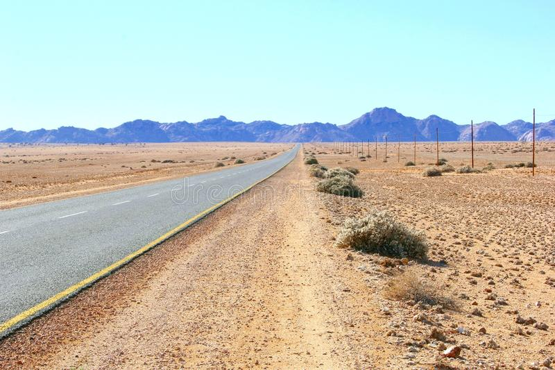Futurs succes d'horizon de route, Afrique photo libre de droits