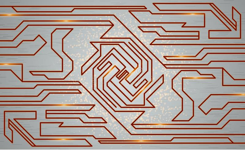 Futurystyczna techno tekstura, abstrakcjonistyczna technologii ilustracja ilustracja wektor