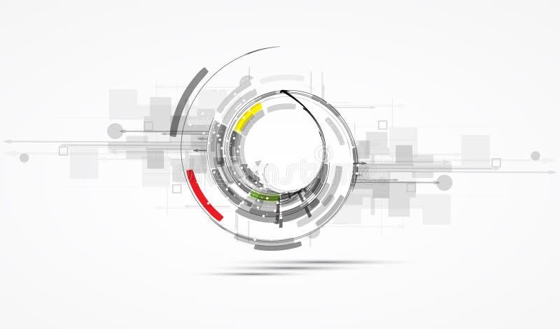 Futurystycznego interneta informatyki biznesu wysoki b ilustracja wektor