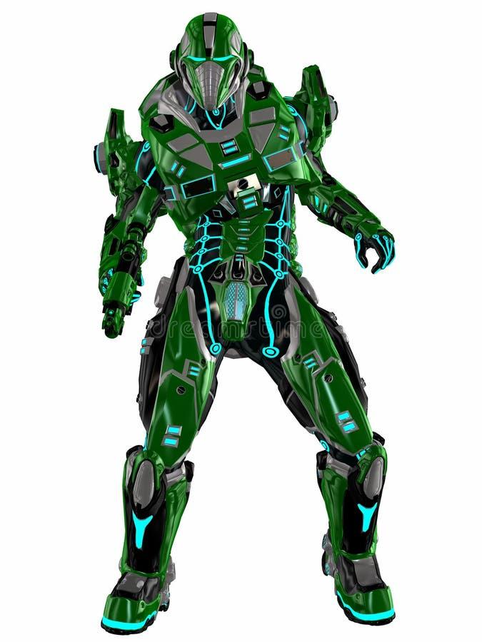 futurystyczny żołnierz ilustracji