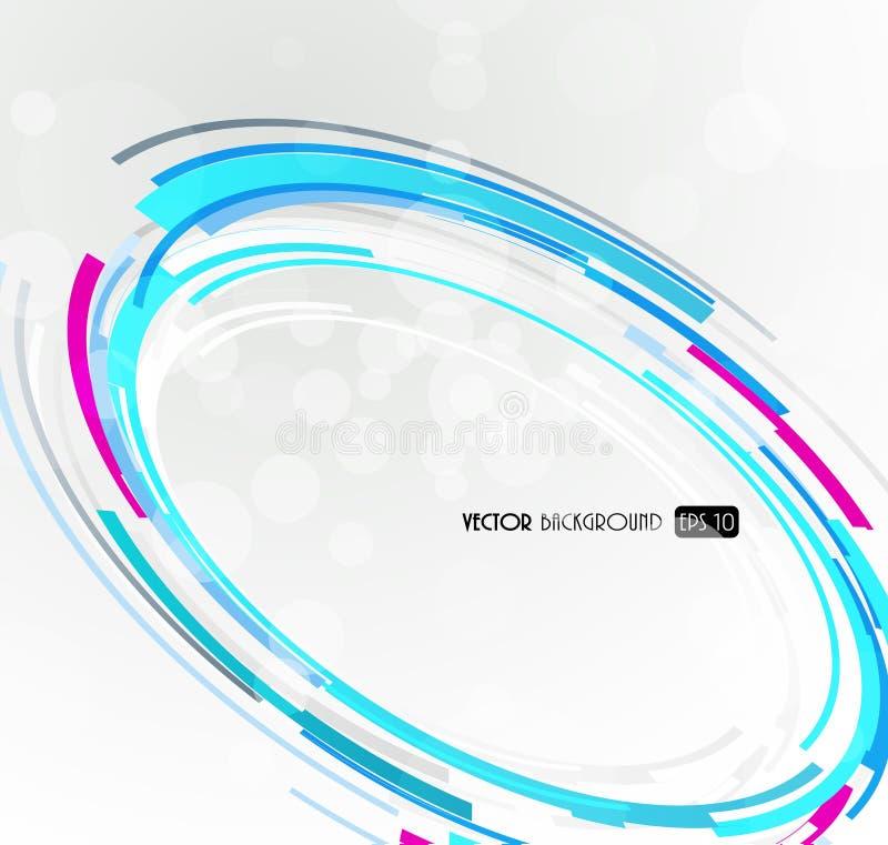 futurystyczny abstrakcjonistyczny błękitny okrąg ilustracja wektor