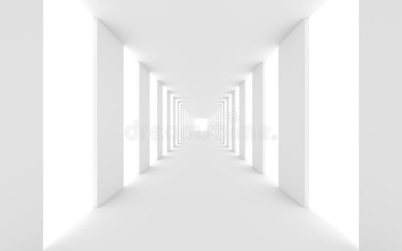 Futurystyczny biały tło ilustracja wektor