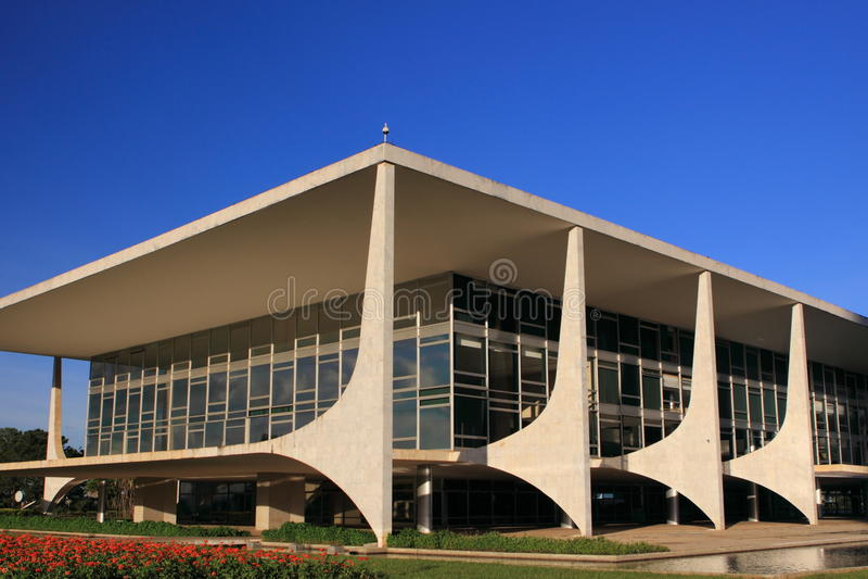Futurystyczny Brazylijski Prezydent Budynek obraz stock