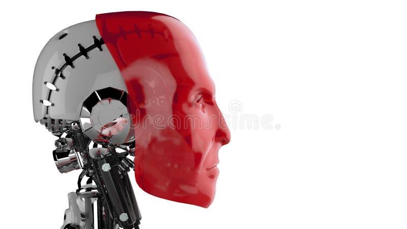 Futurystyczny cyborg ilustracja wektor