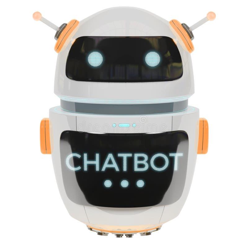 Futurystyczny cyfrowy chatbot 3D rendering ilustracji