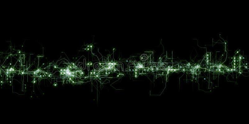Futurystyczny cyfrowy siatki tło ilustracji