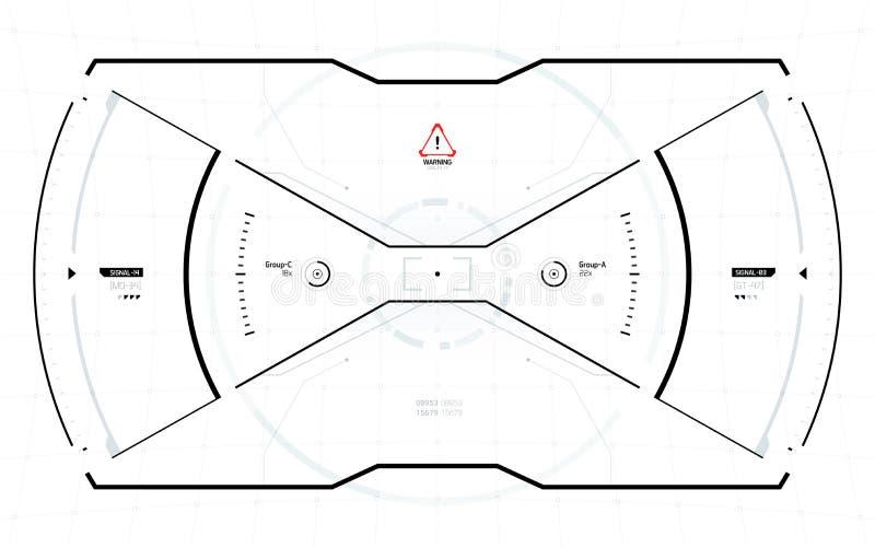 Futurystyczny fantastyka naukowa technologii HUD ekran ilustracja wektor