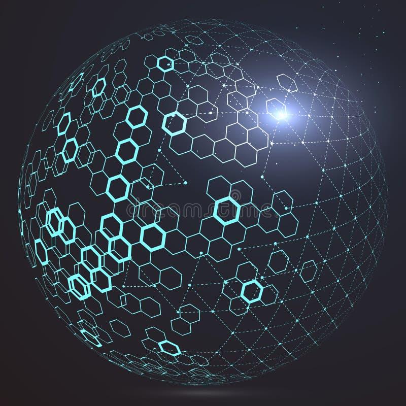 Futurystyczny globalizacja interfejs royalty ilustracja
