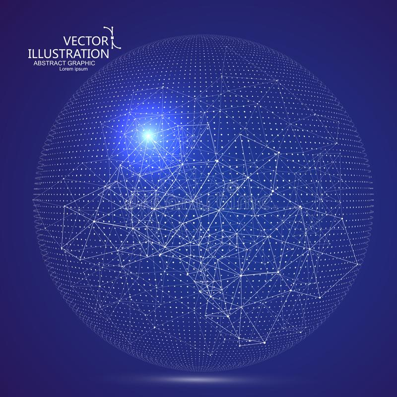 Futurystyczny globalizacja interfejs, sens nauka i technika abstrakta grafika ilustracja wektor