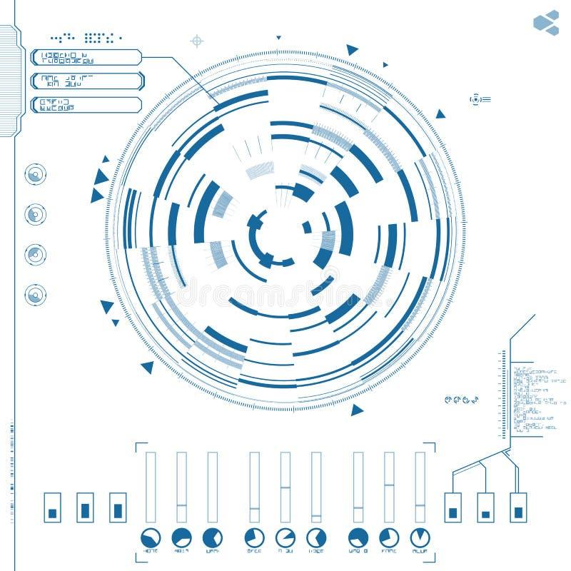 Futurystyczny graficzny interfejs użytkownika ilustracja wektor
