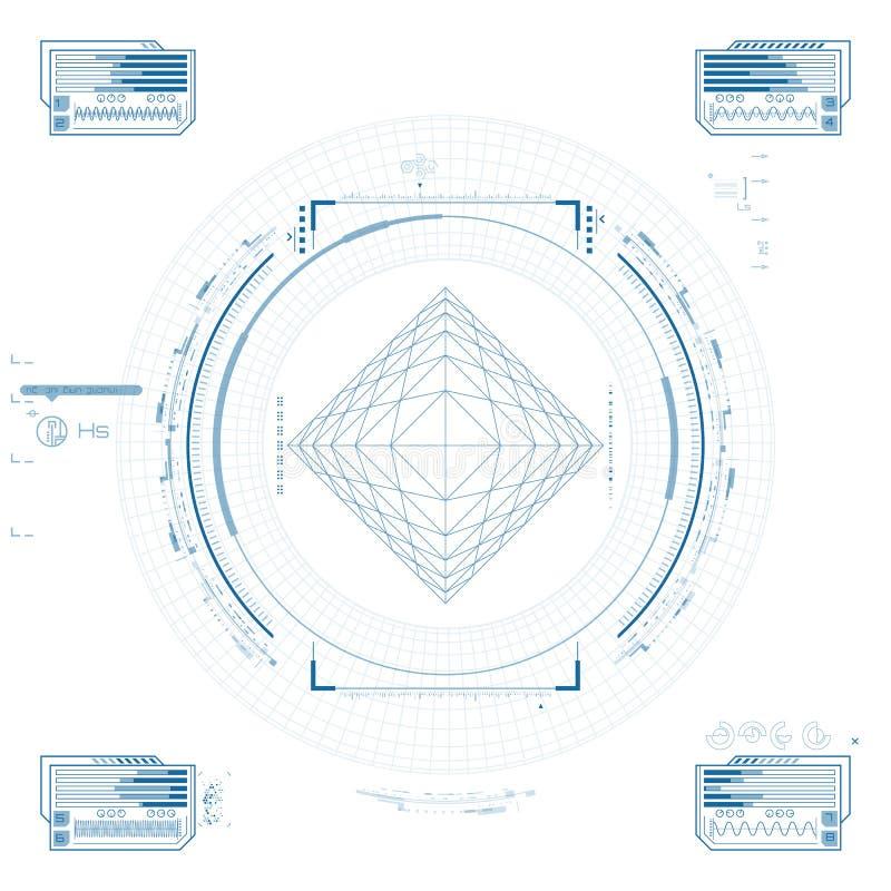 Futurystyczny graficzny interfejs użytkownika royalty ilustracja