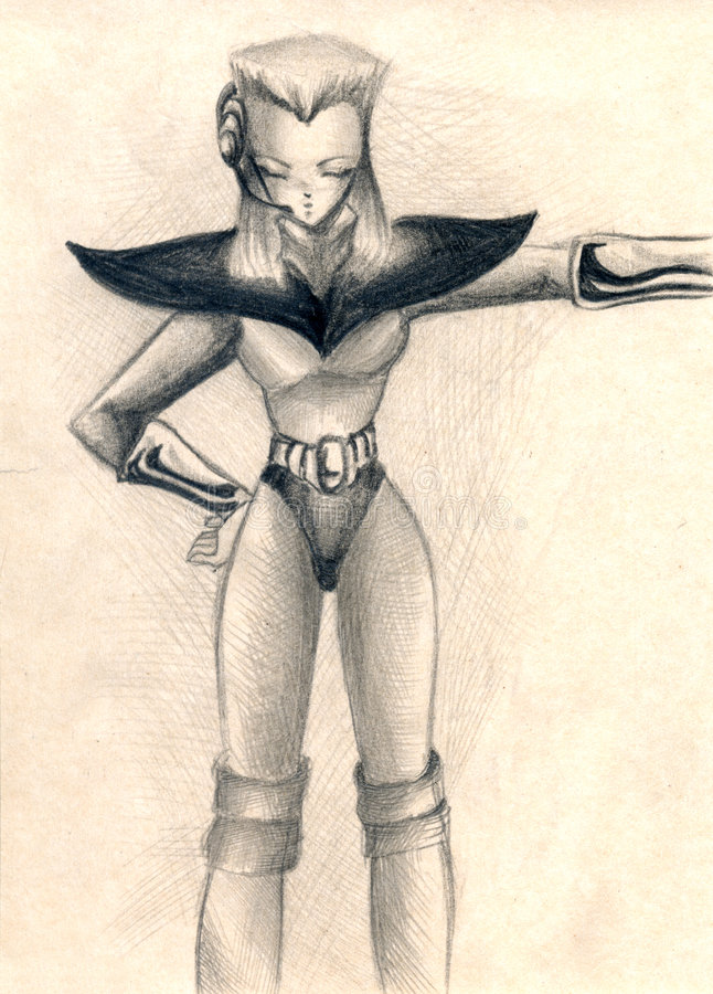 futurystyczny ilustracyjny mężczyzna royalty ilustracja