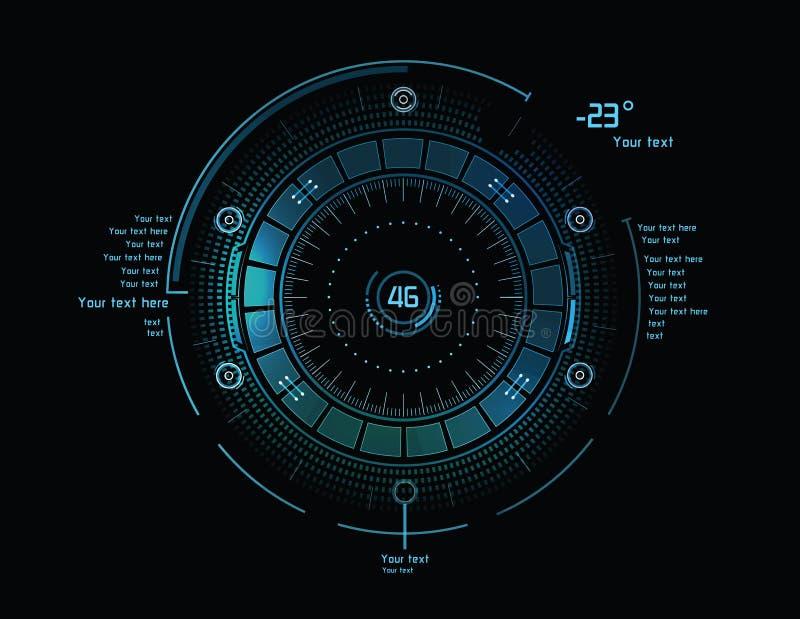 Futurystyczny infographics jako głowa pokaz ilustracji