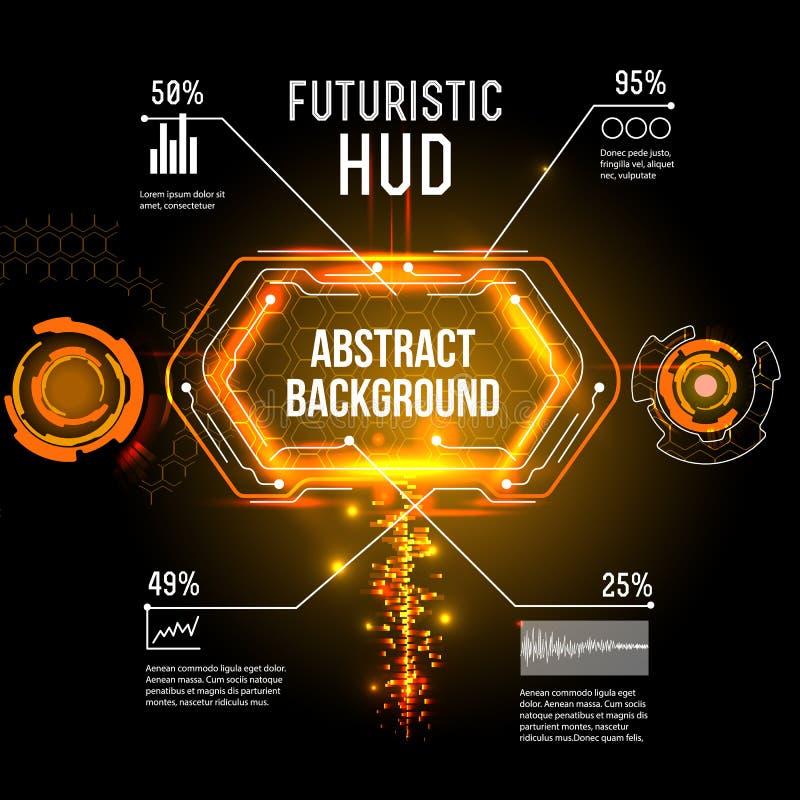 Futurystyczny interfejs, HUD, imfographics, ilustracji