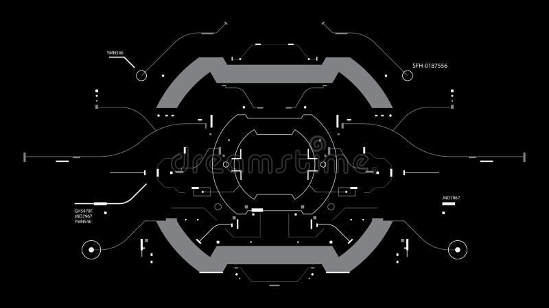 Futurystyczny interfejs użytkownika ilustracji