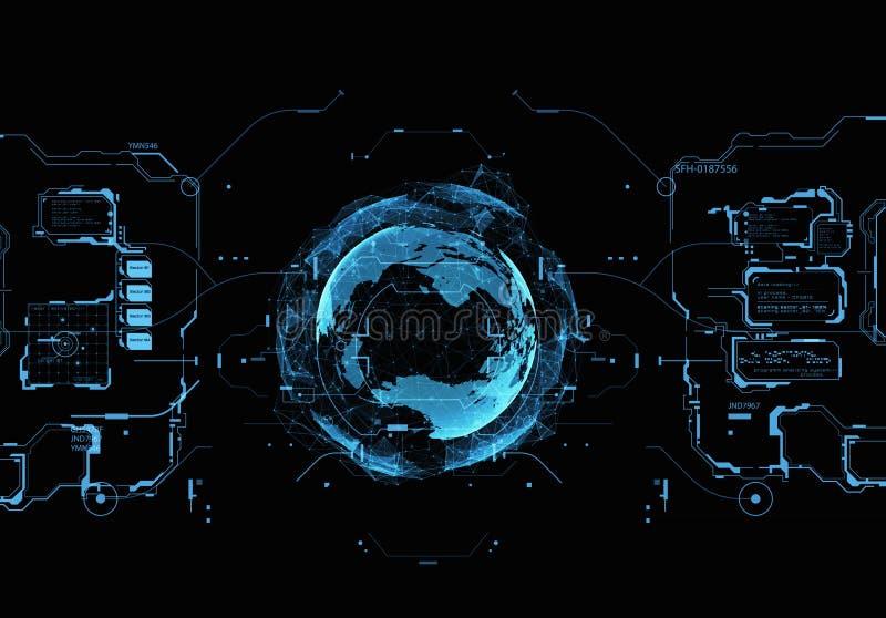 Futurystyczny interfejs użytkownika ilustracja wektor