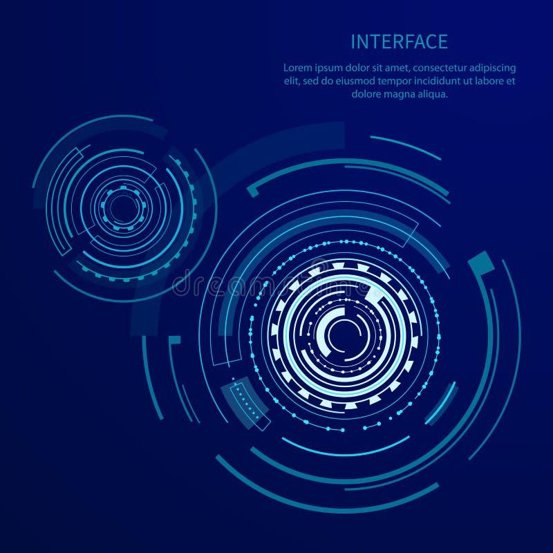 Futurystyczny interfejs Z Wiele Geometrycznymi kształtami royalty ilustracja