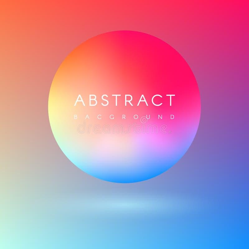 Futurystyczny kolorowy ciecz barwi 3d piłkę royalty ilustracja