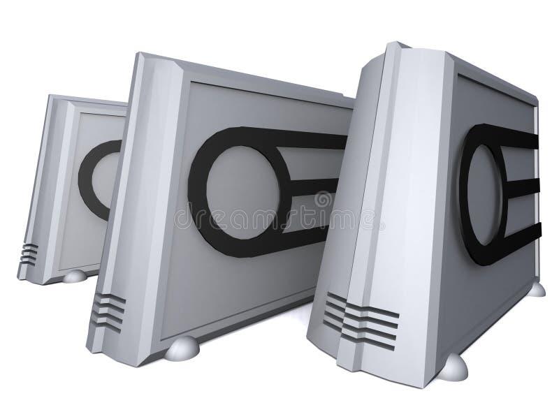 futurystyczny komputera osobistego ilustracja wektor