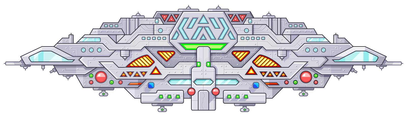 Futurystyczny kosmos bitwy starship UFO niezidentyfikowanego latającego przedmiota obcy royalty ilustracja