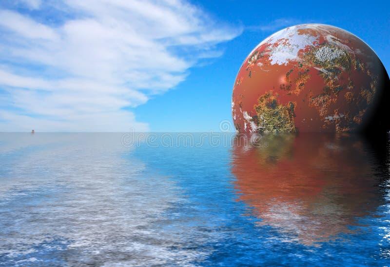 Futurystyczny krajobraz zdjęcia royalty free