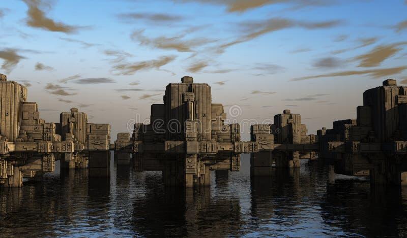 Futurystyczny miasto ilustracji