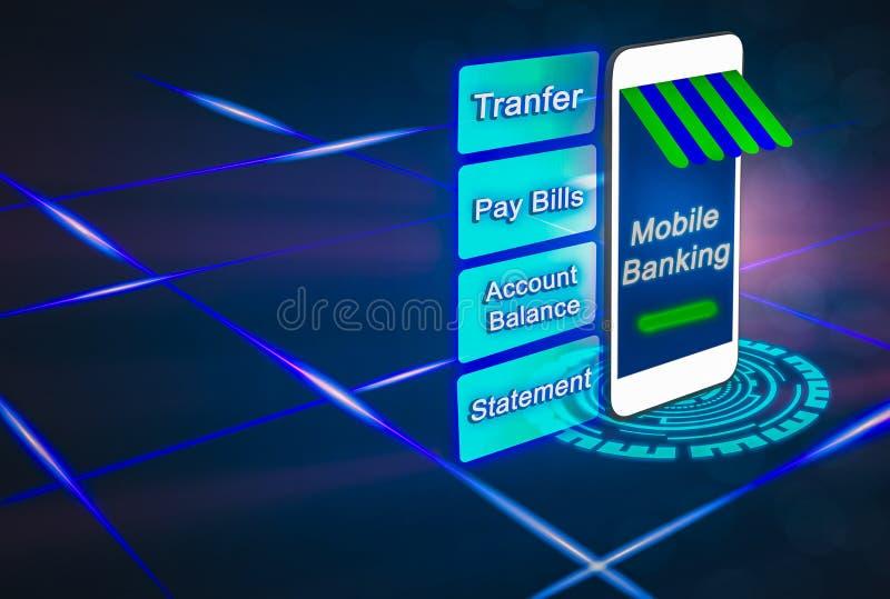 Futurystyczny mobilny blanking dla przyszłości, postępowy smartphones wyczyn ilustracja wektor
