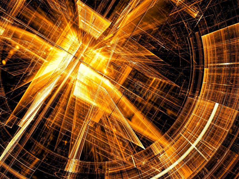 Futurystyczny portal - abstrakta cyfrowo wytwarzający wizerunek ilustracji