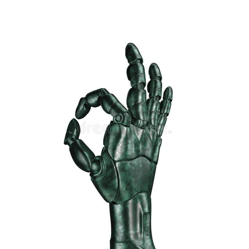 Futurystyczny projekta pojęcie mechaniczna machinalna ręka 3 d czynią matte chrom zdjęcie stock