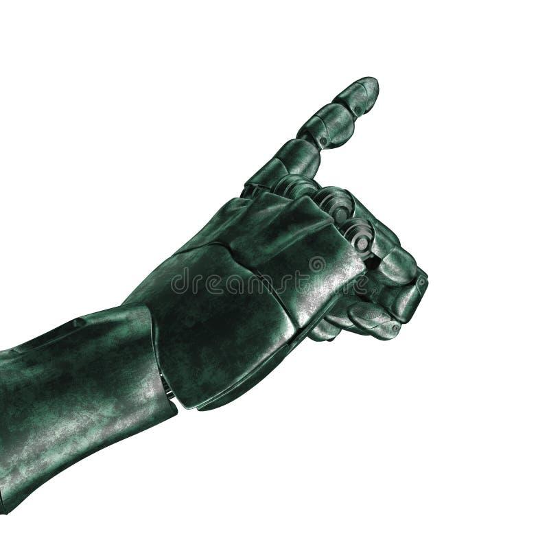 Futurystyczny projekta pojęcie mechaniczna machinalna ręka 3 d czynią matte chrom ilustracja wektor