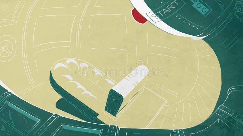 Futurystyczny rakietowy kokpit royalty ilustracja