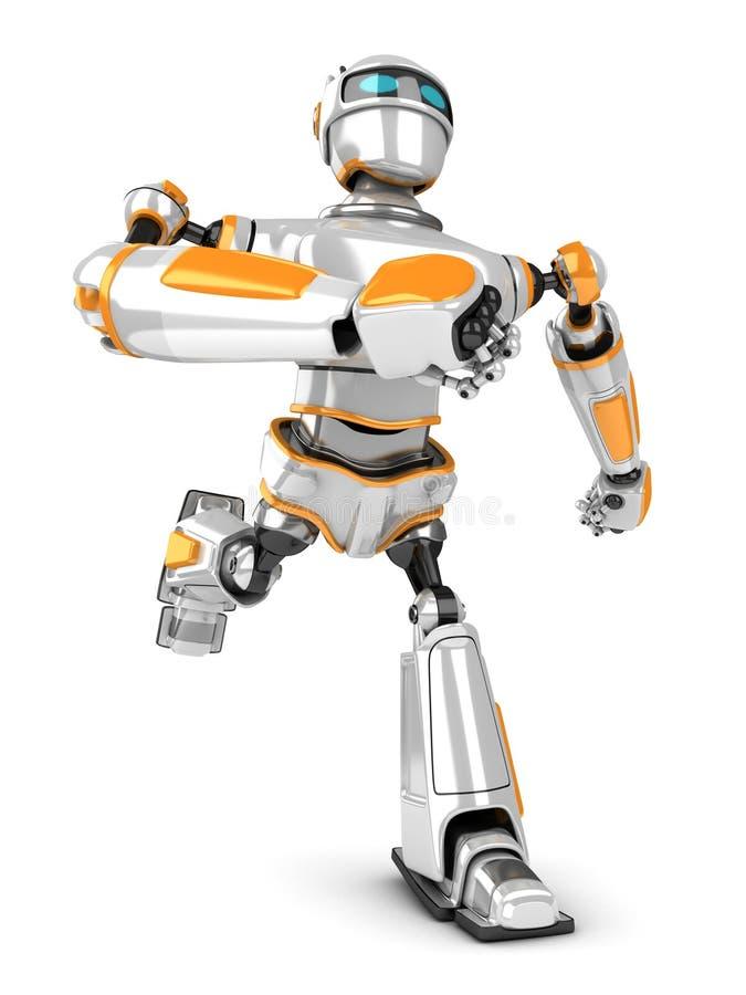 Futurystyczny robota bieg post royalty ilustracja