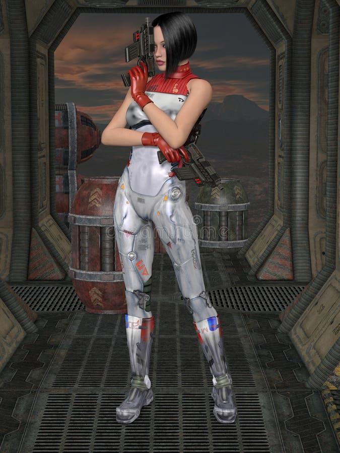 Futurystyczny seksowny mundur ilustracji