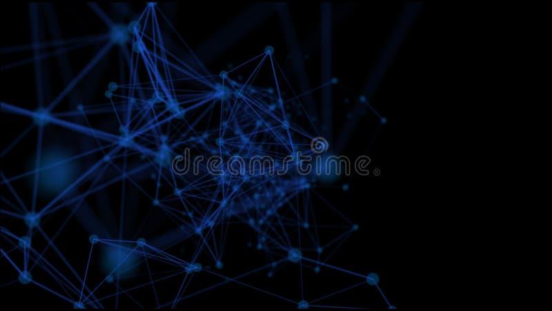 Futurystyczny sieci tło - abstrakt kropkuje i wykłada zdjęcie stock