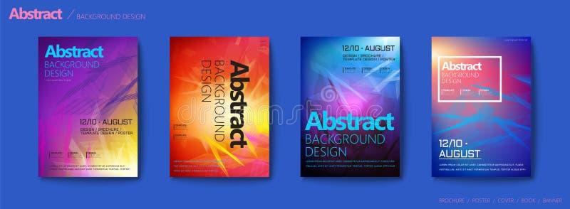 Futurystyczny stylowy broszurka set ilustracja wektor