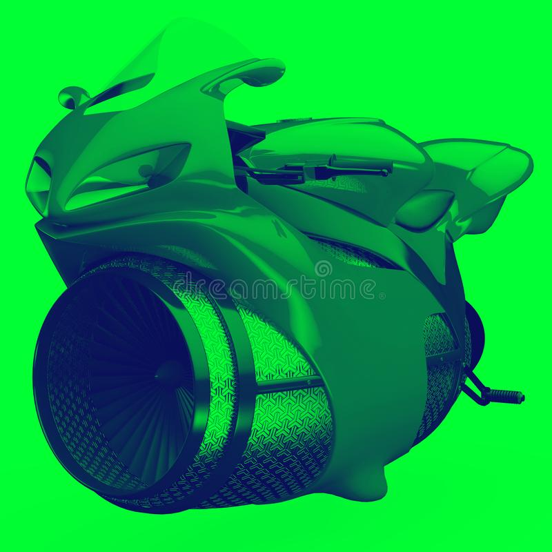 Futurystyczny super motocyklu setkarz bez gatunku royalty ilustracja