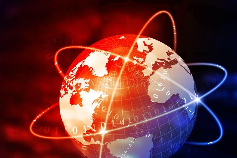 Futurystyczny tło Globalnego biznesu sieć ilustracja wektor
