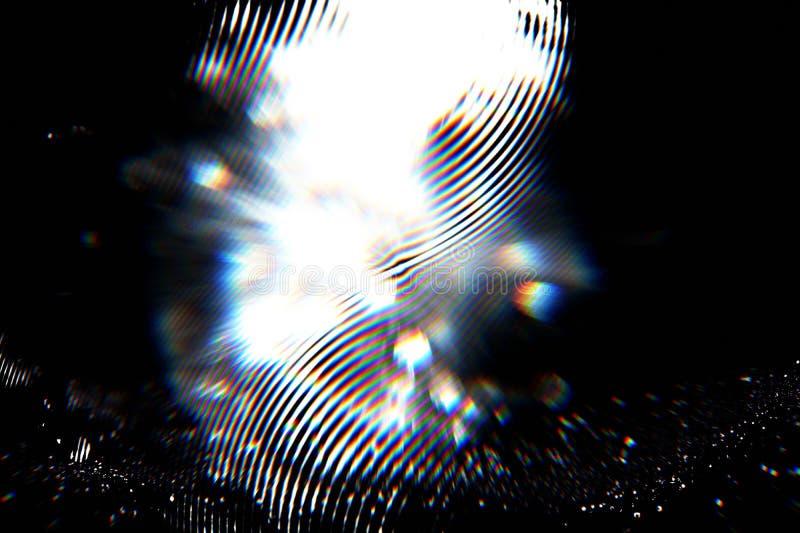 Futurystyczny tło 80's retro styl Digital lub Cyber powierzchnia neonowi światła i geometryczny wzór, test parawanowa usterka obrazy stock