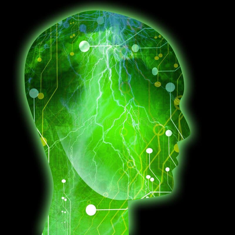 Futurystyczny technologii tło royalty ilustracja