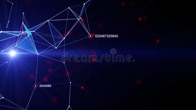 Futurystyczny technologii tło ilustracji