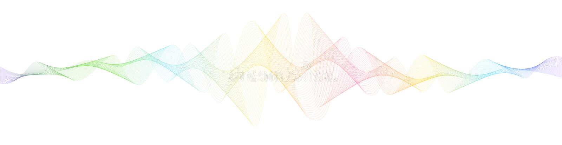 Futurystyczny wektorowy tło z dynamicznymi falami, kreskowa sztuka Kolorowi bieżący faliści lampasy, abstrakt przekręcający wykła fotografia stock