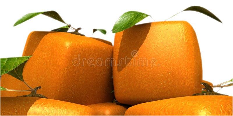 Download Futurystyczny Zamknięte Futurystyczne Pomarańcze Ilustracji - Ilustracja złożonej z sześcian, dziwny: 13331929