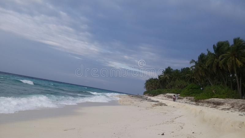 Fuvahmulah Maldiverna arkivfoto
