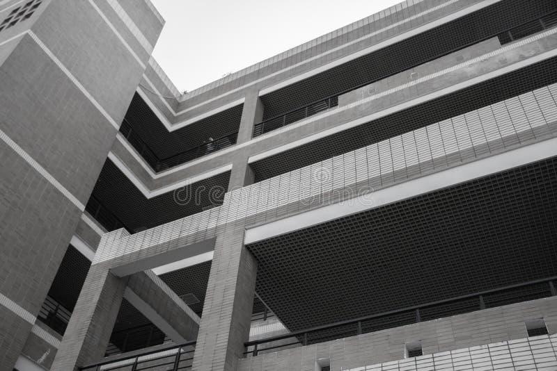 FuZhou universitets byggnad för undervisning arkivbild